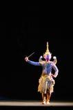 Khon ou représentation thaïlandaise suprême de masque Image libre de droits
