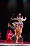 Khon ou représentation thaïlandaise suprême de masque Images libres de droits