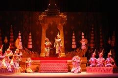 Khon ou représentation thaïlandaise suprême de masque Photo libre de droits