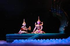 Khon ou représentation thaïlandaise suprême de masque Photographie stock libre de droits