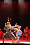 Khon ou représentation thaïlandaise suprême de masque Image stock