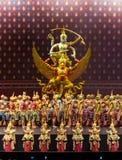 Khon Performance, The Battle of Indrajit Episode of Nagabas Stock Photo