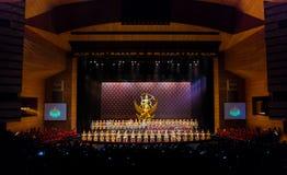 Khon Performance, The Battle of Indrajit Episode of Nagabas Stock Photos