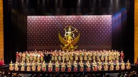 Khon Performance, The Battle of Indrajit Episode of Nagabas Stock Photography