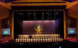 Khon Performance, The Battle of Indrajit Episode of Nagabas Royalty Free Stock Photo