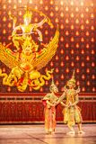 Khon performance, the romance scenes between Phra Ram and Nang Sida in the Ramayana epic stock images