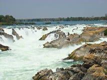 Khon pha peng waterfalls Stock Photo