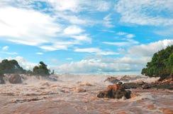 Khon pha pheng瀑布 库存图片