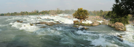 Khon Phapheng waterfall on river Mekong at four thousand island Stock Image