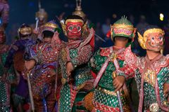 Khon Ramakien ή χορός δράματος Ramayana Στοκ Εικόνα