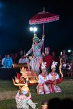 Khon Ramakien or Ramayana drama dancing. Chiang Rai, Thailand - February 16, 2018: Khon Ramakien or Ramayana drama dancing, unidentified actors are showing in Royalty Free Stock Photo