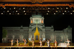 Khon, représentations de danse de la Thaïlande Image libre de droits