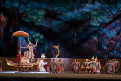 Khon, représentations de danse de la Thaïlande Photo libre de droits