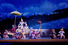 Khon, représentations de danse de la Thaïlande Images libres de droits