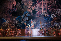 Khon, représentations de danse de la Thaïlande Photos stock