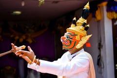 Khon show Royaltyfri Foto