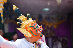 Khon show Royaltyfria Foton
