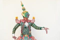 Khon Tajlandzki dramat, jakby obraz stock