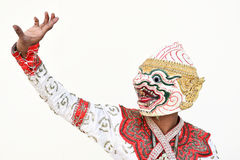 Khon Tajlandzki dramat, jakby obrazy royalty free