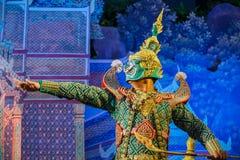 Khon - Tajlandzki Tradycyjny Maskowy taniec obrazy royalty free
