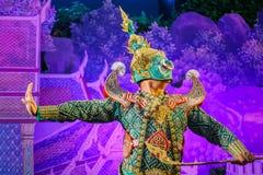 Khon - Tajlandzki Tradycyjny Maskowy taniec Obraz Stock