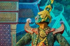 Khon - Tajlandzki Tradycyjny Maskowy taniec fotografia stock
