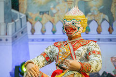 Khon - Tajlandzki Tradycyjny Maskowy taniec fotografia royalty free