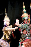 Khon-Thai culture drama dance show Stock Photos