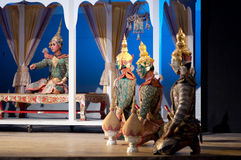 Khon-Thai culture drama dance show Stock Photo
