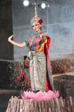 Khon-Thai culture drama dance show Royalty Free Stock Photo