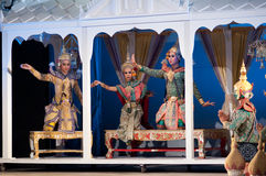 Khon-Thai culture drama dance show Royalty Free Stock Images