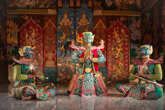KHON THAI Kumarakorn Character in Ramayana story is mask dancing. The best of Thailand and Asia Stock Image