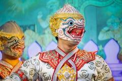 Khon - thailändsk traditionell maskeringsdans Royaltyfria Bilder
