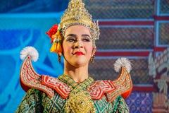 Khon - thailändsk traditionell maskeringsdans Royaltyfri Fotografi