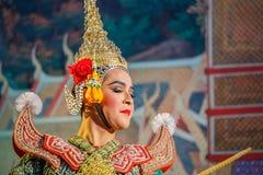Khon - thailändsk traditionell maskeringsdans Fotografering för Bildbyråer