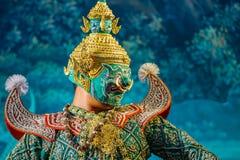 Khon - thailändsk traditionell maskeringsdans Royaltyfria Foton