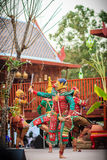 Khon is traditional dance of thai classical masked. Art culture Stock Photo