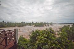Khone phapheng falls Stock Photo