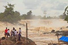 Khone phapheng falls Stock Photography