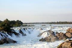 Khone Phapheng nedgångar i Laos Royaltyfri Bild
