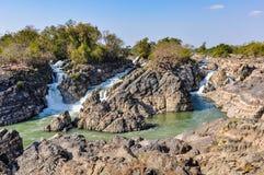 Khone Spada w Don Kone, 4000 wysp, Laos Obrazy Stock