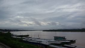 Khong flod Arkivbild