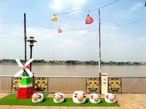Khong-Fluss nongkai Thailand lizenzfreies stockbild