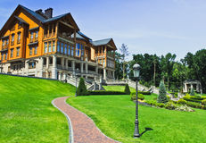 The Khonka house in Mezhyhirya. Ukraine. It is former residence of ex-president Yanukovich, now it is open to the public Stock Image
