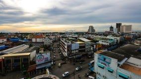 Khonkaen Bird's-eye view at Fairy Praza Khonkaen., Thailand., ev Stock Photos