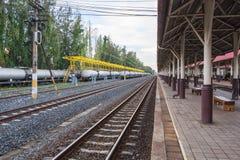 Khonkaen drevjärnvägsstation Arkivfoton