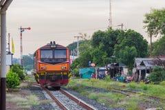 Khonkaen drevjärnvägsstation Arkivbilder