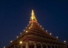 khonkaen gubernialnego świątynnego tajlandzkiego Thailand Fotografia Stock
