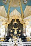 Khonkaen, Thailand - 12. Juni 2018: Schwarzes Buddha-Bild bei Wat Thung Setthi Temple in Khonkaen in Thailand lizenzfreies stockbild