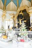 Khonkaen Thailand - Juni 12, 2018: Svart Buddhabild på Wat Thung Setthi Temple i Khonkaen i Thailand royaltyfri foto